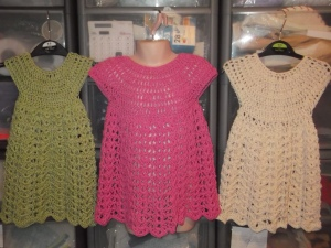 crochet cotton dresses 2014 show